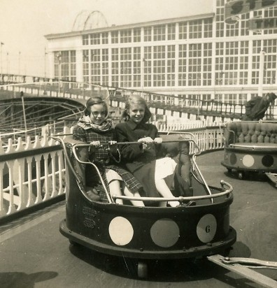 Mom (right) and a friend at Coney Island at Luna Park