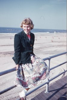 Mom, at 15, Coney Island, 1953